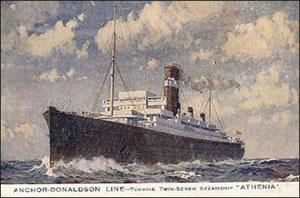 The passenger liner Athenia