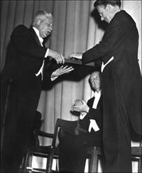 Nobel Prize ceremony for E.O. Lawrence