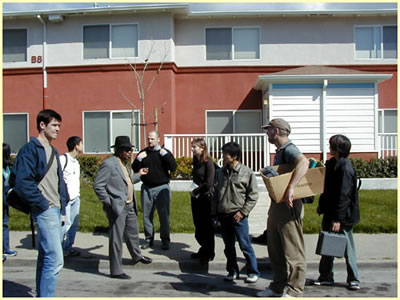 In Cap And His Uc Berkeley Architecture Students The Newly Renovated Public Housing At Lockwood Gardens Oakland California Photo Judy Monnier Oha