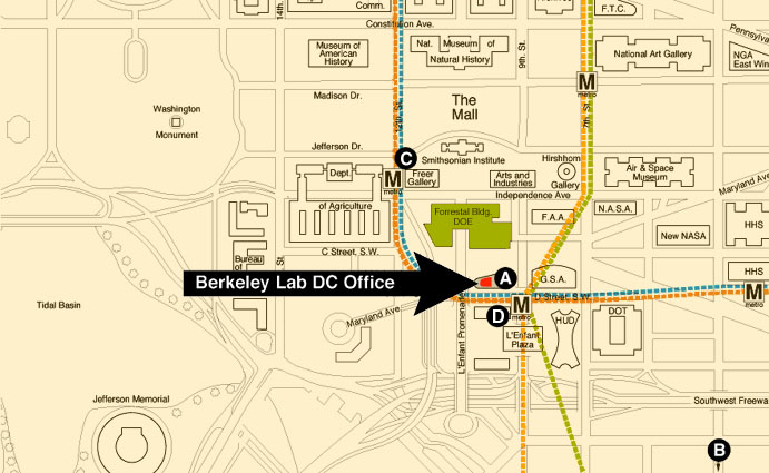 Smithsonian Washington Dc Map.Map Locating Berkeley Lab Washington Dc Office