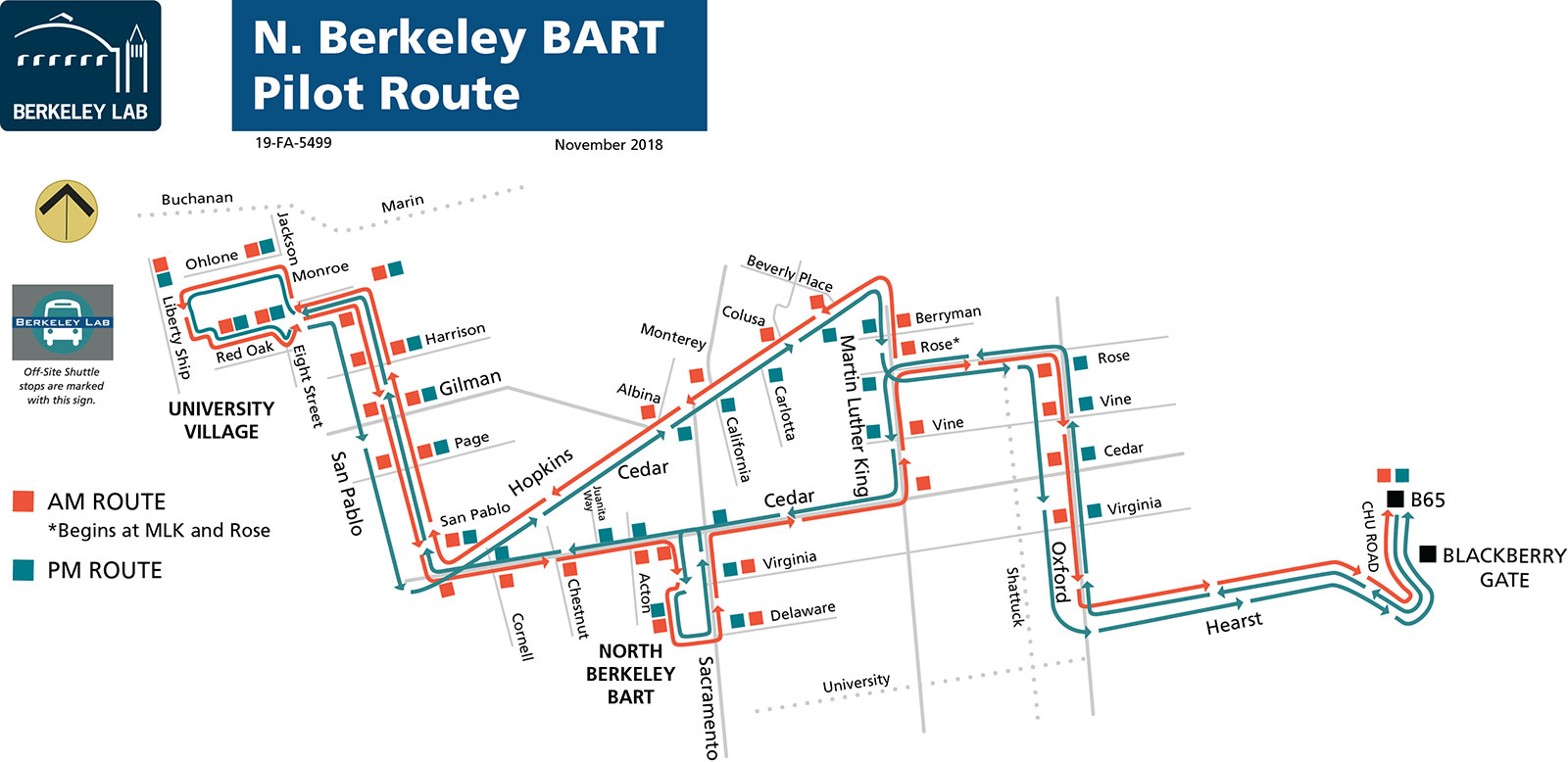 Laboratory Shuttle Bus Routes North Berkeley Bart Route