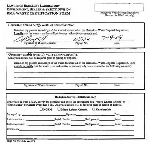 Sample Work Place Inspection Recording Form Description