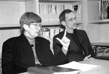 Martha Krebs and Ari Patrinos