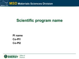 Berkeley Lab - Materials Sciences Division