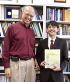 Image of Ashok Gadgil and student